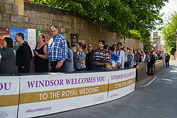 Crowds queue for hundreds of yards to tour Windsor Castle on the day following the wedding of Prince Harry to Meghan Markle in Windsor, Berkshire. WINDSOR, May 20 2018.