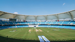 View of cricket Test Match between England and Pakistan in October 2015 at Dubai International Cricket Stadium in Dubai United Arab Emirates