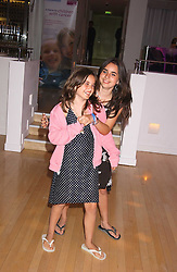 Left to right, Jade Jagger's daughters AMBA and ASSISI at party in aid of cancer charity Clic Sargent held at the Sanderson Hotel, Berners Street, London on 4th July 2005.<br />