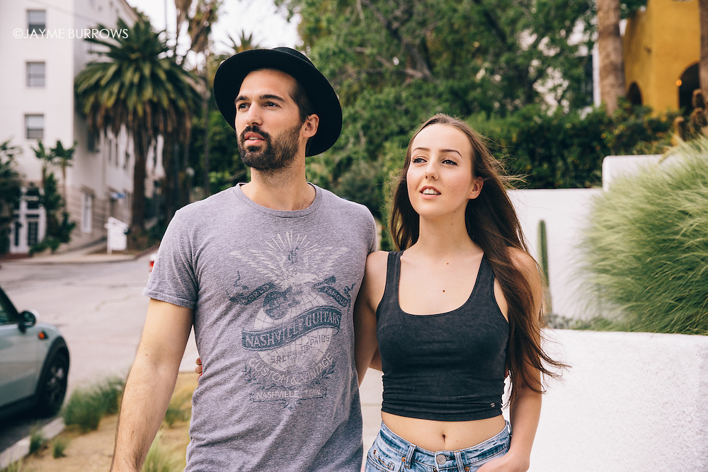 Young couple in Los Angeles.