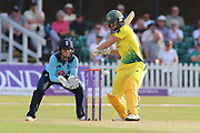 Ellyse Perry of Australia (8) prpares to square cut during the Royal London Women's One Day International match between England Women Cricket and Australia at the Fischer County Ground, Grace Road, Leicester, United Kingdom on 4 July 2019.
