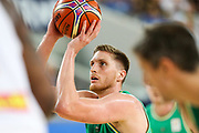 Matt Hodgson #10 of Australia shoots a free throw during the Australia v Philippines, 1st Round, Group B, Asian Qualifier at the Margaret Court Arena, Melbourne, Australia on 22 February 2018. Picture by Martin Keep.