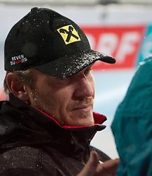 21.12.2011, Hermann Maier Weltcup Strecke, Flachau, AUT, FIS Weltcup Ski Alpin, Herren, Slalom, im Bild Hermann Maier (AUT) wärend dem 2. Durchgang im Zielraum // Ex Ski Racer Hermann Maier of Austria during 2nd run of Slalom race at FIS Ski Alpine World Cup 'Hermann Maier World Cup' course in Flachau, Austria on 2011/12/21. EXPA Pictures © 2011, PhotoCredit: EXPA/ Johann Groder
