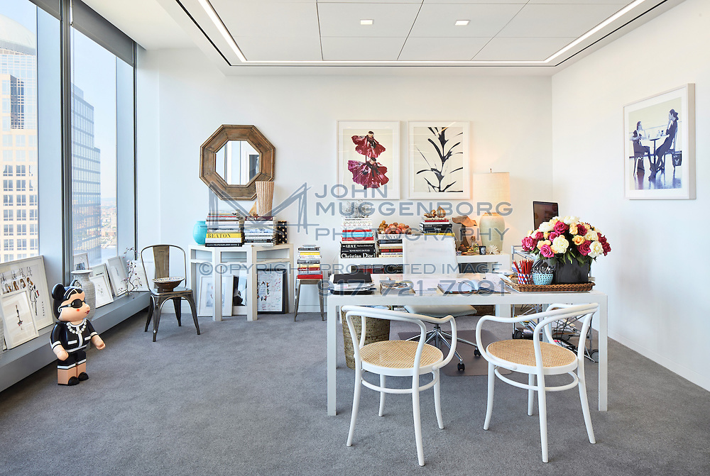 The office of Amy Astley at 1 World Trade Center. Amy Astley is the Editor-in-Chief of Teen Vogue.