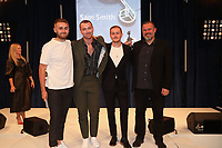 Sam Smith poses on stage with Disclosure during he O2 Silver Clef Awards 2019, Grosvenor House, London, UK, Friday 05 July 2019<br /> Photo JM Enternational