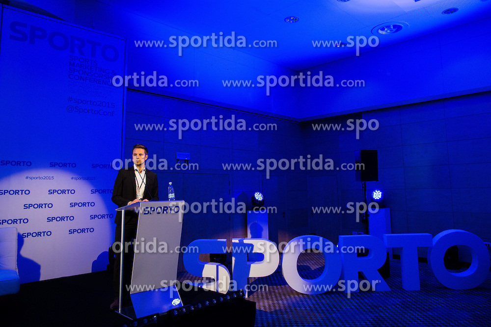 Sebastian Frank of Borussia dortmund (Project manager new media) during Sports marketing and sponsorship conference Sporto 2015, on November 19, 2015 in Hotel Slovenija, Congress centre, Portoroz / Portorose, Slovenia. Photo by Vid Ponikvar / Sportida