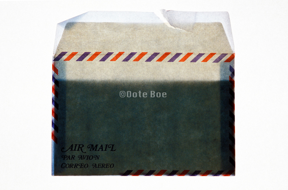 an air mail envelope