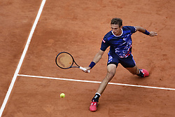 May 30, 2019 - Paris, France - Switzerland's Henri Laaksonen during the match between Henri Laaksonen and Novak Djokovic at men's singles second round match on day five of The Roland Garros 2019 French Open tennis tournament in Paris on May 30, 2019. (Credit Image: © Ibrahim Ezzat/NurPhoto via ZUMA Press)