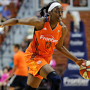 UNCASVILLE, CONNECTICUT- MAY 26: Chiney Ogwumike #13 of the Connecticut Sun in action during the Los Angeles Sparks Vs Connecticut Sun, WNBA regular season game at Mohegan Sun Arena on May 26, 2016 in Uncasville, Connecticut. (Photo by Tim Clayton/Corbis via Getty Images)
