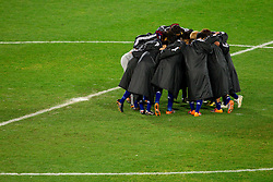 Team of Japan during the penalty shots after 0-0 in overtime during the 2010 FIFA World Cup South Africa Round of Sixteen football match between Paraguay and Japan on June 29, 2010 at Loftus Versfeld Stadium in Tshwane/Pretoria. (Photo by Vid Ponikvar / Sportida)