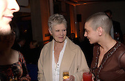 Dame Judy Dench and SinO'Connor, Fundraising party with airline theme in aid of the Old Vic and to celebrate the appointment of Kevin Spacey as artistic director.  <br />