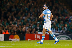 Argentina Prop Ramiro Herrera leaves the pitch to the sin bin - Mandatory byline: Rogan Thomson/JMP - 07966 386802 - 18/10/2015 - RUGBY UNION - Millennium Stadium - Cardiff, Wales - Ireland v Argentina - Rugby World Cup 2015 Quarter Finals.
