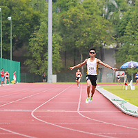 Singapore Polytechnic, Saturday, January 18, 2014 &mdash; Fang Jianyong of the Singapore Institute of Management (SIM) once again produced an impressive front-running performance to clinch the 1500m gold. This win cemented his status as the middle distance king of this edition of the Institute-Varsity-Polytechnic (IVP) Track and Field Championships.<br />