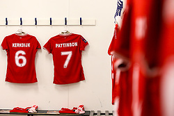 A general view of the Bristol City Women changing room - Mandatory by-line: Robbie Stephenson/JMP - 24/03/2019 - FOOTBALL - Stoke Gifford Stadium - Bristol, England - Bristol City Women v Everton Ladies - FA Women's Super League