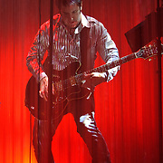 SILVER SPRING, MD - April 30th  2013 -  Trent Reznor of How To Destroy Angels performs at the Fillmore Silver Spring in Silver Spring, MD. The band, which features Reznor's wife Mariqueen Maandig on vocals, brought a stadium-sized light show to the club, performing behind a complex system of fiber optic cables that changed color and shape.  (Photo by Kyle Gustafson/For The Washington Post)