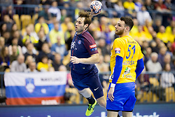 Uwe Gensheimer of PSG during handball match between RK Celje Pivovarna Lasko (SLO) and Paris Saint-Germain Handball (FRA) in VELUX EHF Champions League, on February 11, 2018 in Dvorana Zlatorog, Celje, Slovenia. Photo by Urban Urbanc / Sportida