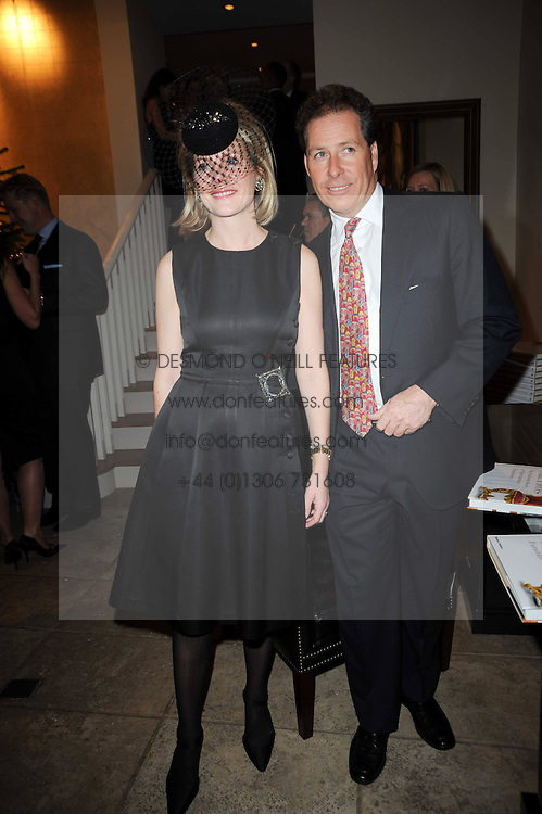 VISCOUNT & VISCOUNTESS LINLEY at the Linley Christmas Party and launch of the book 'Star Pieces' by David Linley, Charles Cator and Helen Chislett held at Linley, 60 Pimlico Road, London on 18th November 2009.