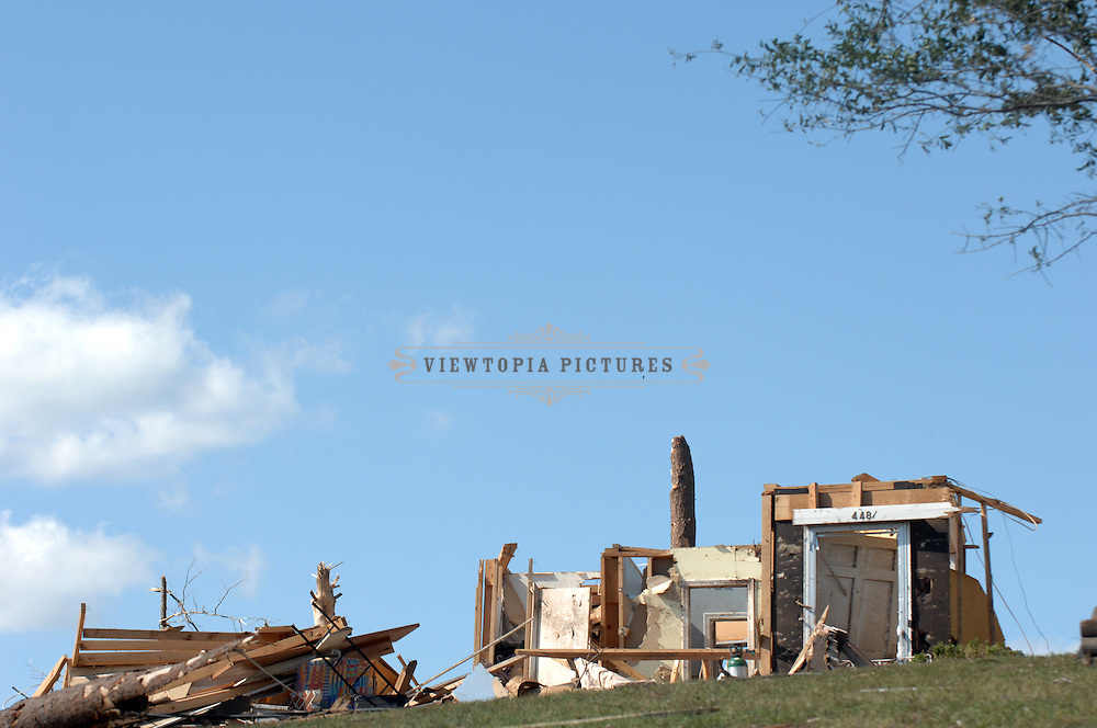 The remains of a home destroyed by tornadoes sits on a hill in Pleasant Grove, Alabama, Thursday, April 28, 2011aerial photograph of tornado damage in , Alabama, Friday, April 29, 2011 Tornado Damage in Alabama 2011