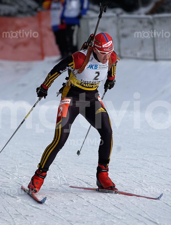 Biathlon, Skinordisch, Weltcup 2002/2003 -Ruhrgas Biathlon World Cup 4- , Biathlon Trophy 1 Oberhof (Germany), Damen 7,5 km Sprint Kati Wilhelm (GER)