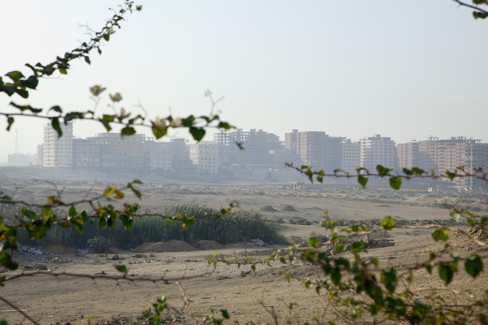 New buildings coming up on the outskirts of Cairo. Cairo, Egypt.