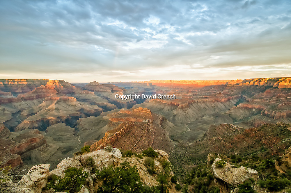 Sunset from Shoshone Point in Grand Canyon National Park