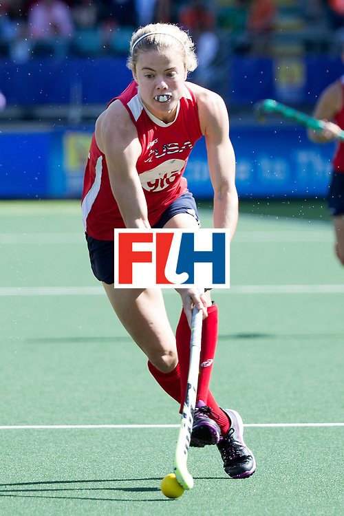 THE HAGUE - Rabobank Hockey World Cup 2014 - 12-06-2014 - WOMEN - SEMI-FINAL USA - AUSTRALIA - AUSTRALIA WINS - Kathleen Sharkey.<br /> Copyright: Willem Vernes