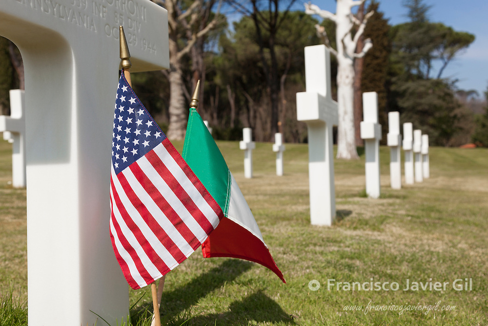 American 2nd World War Cemetery and Memorial, Falciani, Florence, Tuscany, Italy