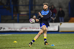Alex Cuthbert of Cardiff Blues during the pre match warm up - Mandatory by-line: Craig Thomas/JMP - 14/01/2018 - RUGBY - BT Sport Cardiff Arms Park - Cardiff, Wales - Cardiff Blues v Toulouse - European Rugby Challenge Cup