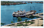 Saigon Harbour,  Vietnam, c1950.