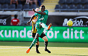 GOTHENBURG, SWEDEN - JULY 19: Sady Gueye of FK Liepaja shoots during the UEFA Europa League Qualifier match between BK Hacken and FK Liepaja at Bravida Arena on July 19, 2018 in Gothenburg, Sweden. Photo by Nils Petter Nilsson/Ombrello ***BETALBILD***