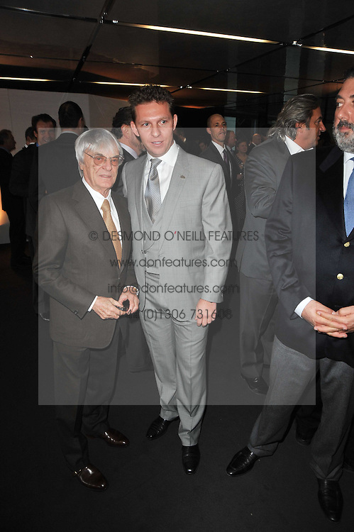 Left to right, BERNIE ECCLESTONE and NICK CANDY at the launch of One Hyde Park, The Residences at Mandarin Oriental, Knightsbridge, London on 19th January 2011.