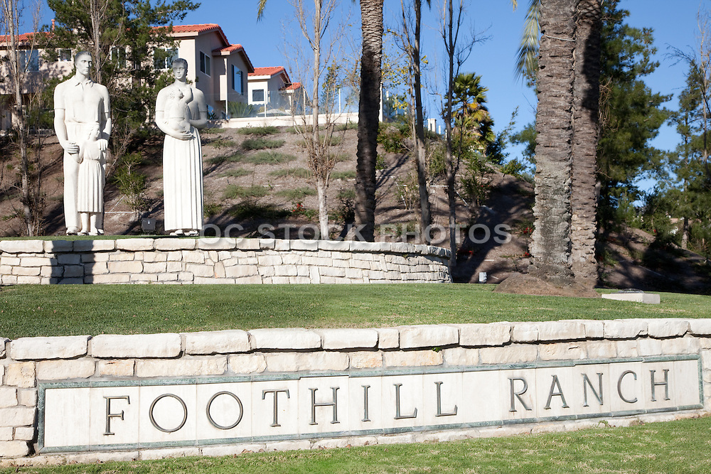Foothill Ranch Family Sculptures and Monument
