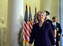 Democratic presidential candidate and former Secretary of State Hillary Clinton arrives for a hearing before the House Select Committee on Benghazi on Capitol Hill in Washington D.C, the United States, Oct. 22, 2015. EXPA Pictures &copy; 2015, PhotoCredit: EXPA/ Photoshot/ Yin Bogu<br /> <br /> *****ATTENTION - for AUT, SLO, CRO, SRB, BIH, MAZ only*****