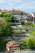 Häuser der Altstadt an der Aare, UNESCO Welterbestätte Altstadt von Bern, Kanton Bern, Schweiz | Houses of the old town on the River Aare, UNESCO World Heritage Site Old Town of Bern, Canton of Bern, Switzerland