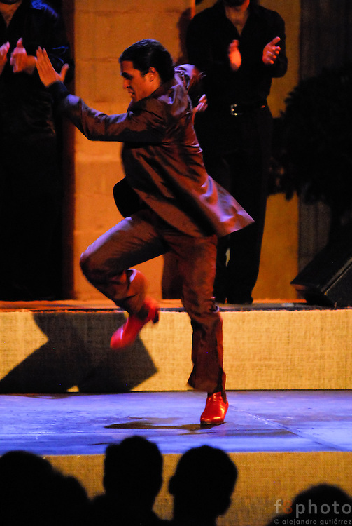 The spanish dancer El Farru during a performance in the First Dance Festival Ibérica Contemporánea, Querétaro, México, 2007