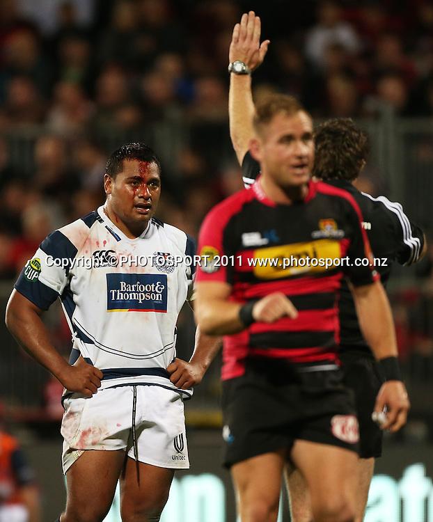 Auckland player Pauliasi Manu. Auckland v Canterbury. ITM CUP Rugby Final, AMI Stadium, Christchruch. Saturday 27 October 2012. Joseph Johnson/photosport.co.nz
