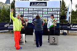 Podium, Banked Slalom at the WPSB_2019 Para Snowboard World Cup, La Molina, Spain