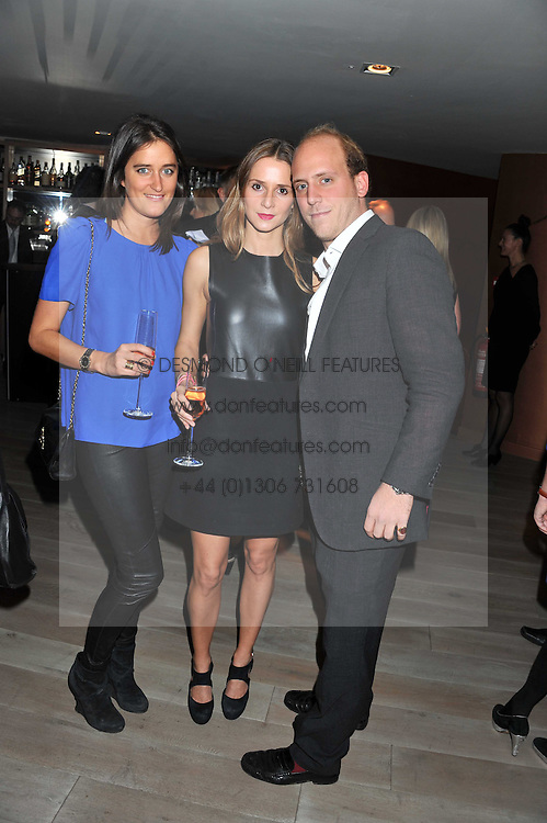 Left to right, VIOLET VON VON WESTENHOLZ, AMANDA CROSSLEY and CARLO CARELLO at a party to launch Senkai - London's first modern Japanese-inspired restaurant at 65 Regent Street, London on 26th October 2011.