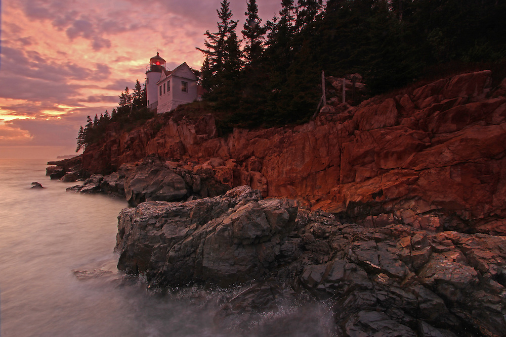 Bass Harbor Lighthouse photography fine art prints are available as museum quality photography prints, canvas prints, acrylic prints or metal prints. Prints may be framed and matted to the individual liking and room decor needs:<br />