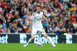 Gylfi Sigurosson of Swansea City in action - Photo mandatory by-line: Rogan Thomson/JMP - 07966 386802 - 27/08/2014 - SPORT - FOOTBALL - Sunderland, England - Stadium of Light - Sunderland v Swansea City - Barclays Premier League.