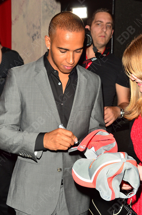 28.JUNE.2012 LONDON<br /> <br /> LEWIS HAMILTON AT THE LONDON GRAND PRIX VIP EVENT AT THE ROYAL AUTOMOBILE CLUB IN MYFAIR.<br /> <br /> BYLINE: EDBIMAGEARCHIVE.COM<br /> <br /> *THIS IMAGE IS STRICTLY FOR UK NEWSPAPERS AND MAGAZINES ONLY*<br /> *FOR WORLD WIDE SALES AND WEB USE PLEASE CONTACT EDBIMAGEARCHIVE - 0208 954 5968*