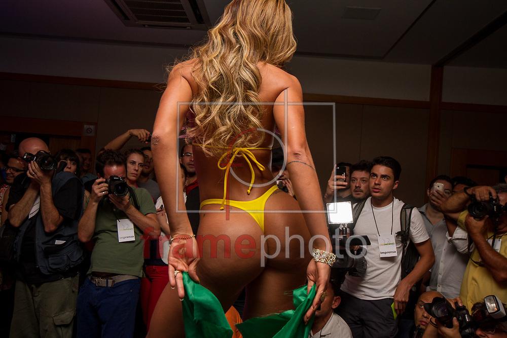 São Paulo - 13/11/2013 - concurso Miss Bumbum Brasil 2013, que aconteceu no Pergamon Hotel, na rua Frei Caneca, na região central da cidade. Foto: Claudio Manculi/Frame