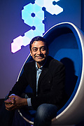 Ashutash Saxena of Caspar AI poses for a portrait at Caspar AI in Redwood City, California, on April 4, 2019. (Stan Olszewski for Silicon Valley Business Journal)