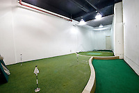 Indoor Golf Green at 45 Wall St