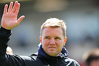 Football - 2018 / 2019 Premier League - AFC Bournemouth vs. Tottenham Hotspur<br /> <br /> Bournemouth's Manager Eddie Howe applauds the home fans on the lap of appreciation after the final home game of the season at the Vitality Stadium (Dean Court) Bournemouth <br /> <br /> COLORSPORT/SHAUN BOGGUST