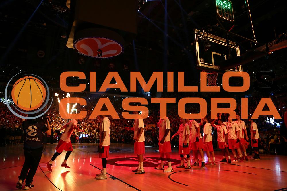 team Olympiakos Piraeus<br /> Fenerbahce Istanbul - Olympiakos Piraeus<br /> Euroleague Final Four 2017<br /> Finale 1 - 2 Posto<br /> Euroleague 2016/2017<br /> Istanbul, 21/05/2017<br /> Foto M.Ceretti / Ciamillo - Castoria