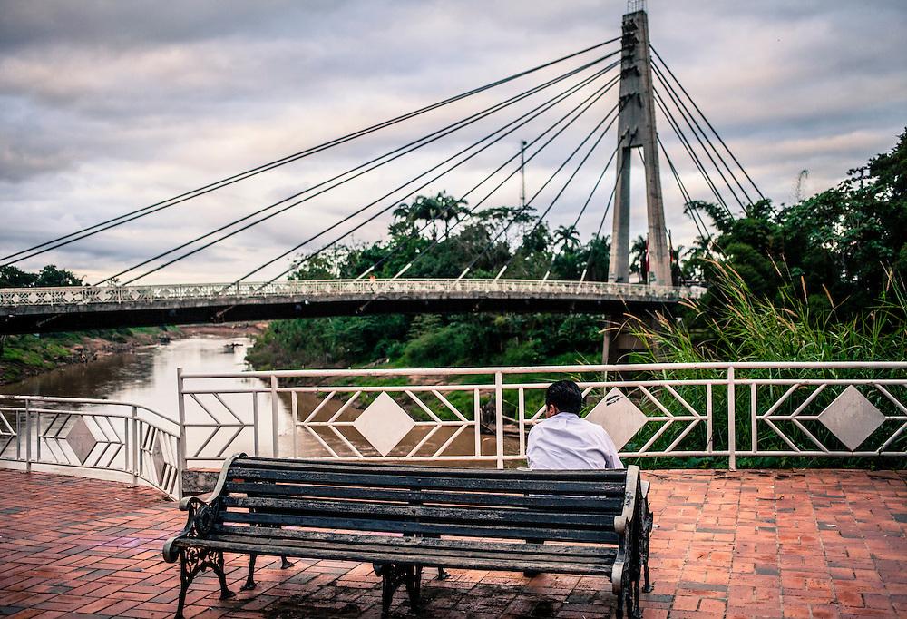 The bridge that links Brasileia (Brazil) with Cobija (Bolivia). many immigrants cross this bridge from Bolivia to enter into Brazil