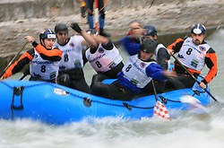 Vidra Team of Croatia at Euro Cup 2009 R6 Rafting in TT & H2H and Slovenian National Championship 2009, on April 4, 2009, in Tacen, Ljubljana, Slovenia. (Photo by Vid Ponikvar / Sportida)