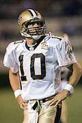 JACKSON, MS - AUGUST 26:  Quarterback Jamie Martin of the New Orleans Saints watches a replay on the scoreboard during a game against the Indianapolis Colts on August 26, 2006 at Veterans Memorial Stadium in Jackson, Mississippi.  The Colts won 27 to 14.  (Photo by Wesley Hitt/Getty Images) *** Local Caption *** Jamie Martin