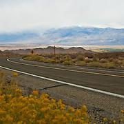 Highway to bishop creek. Eastern Sierras. Bishop. California, USA.